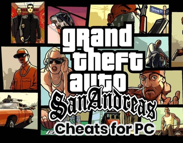 Grand Theft Auto San Andreas Cheats in PC