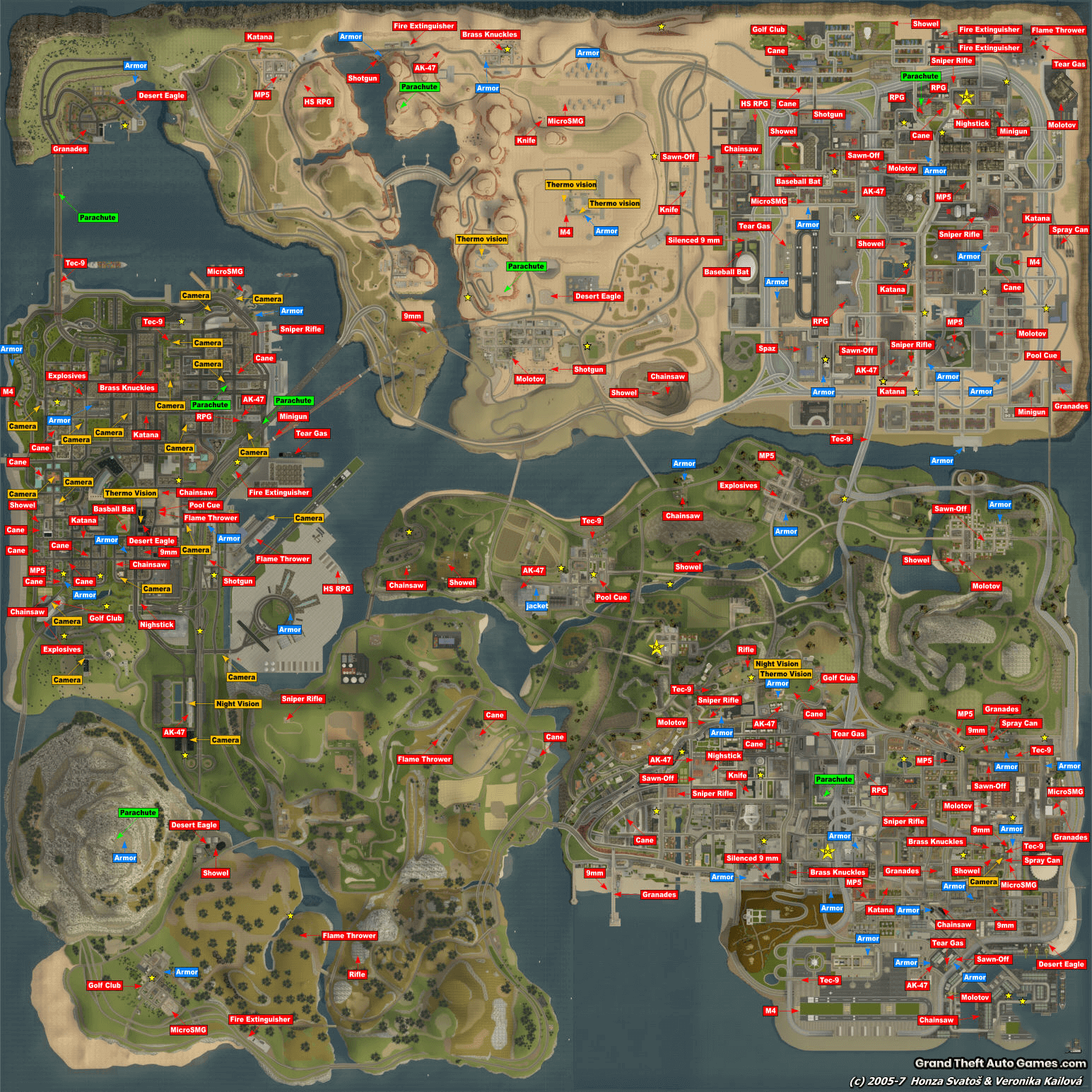 Weapons, armor Map
