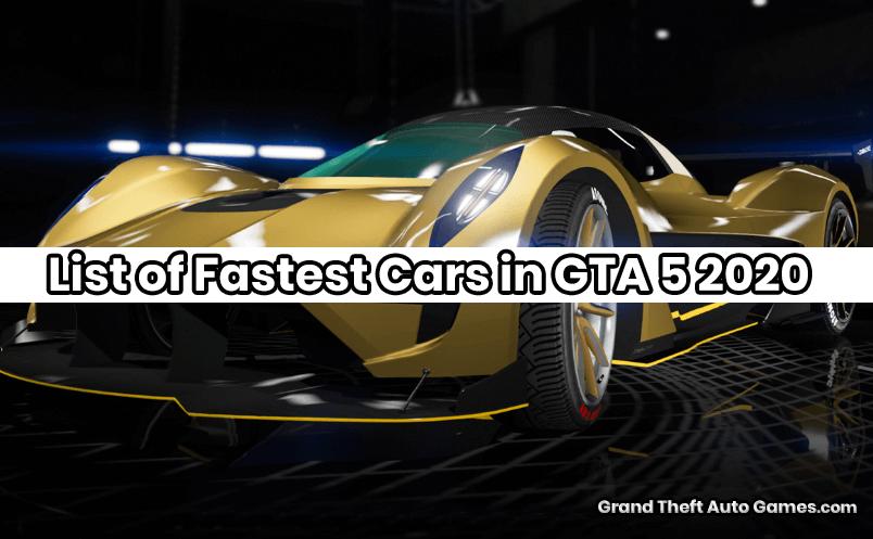 Fastest Cars in GTA 5 2020
