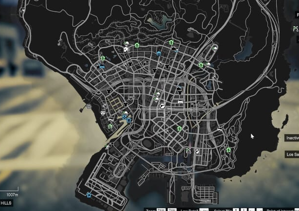 GTA 5 Map with Street Names and Postal Codes